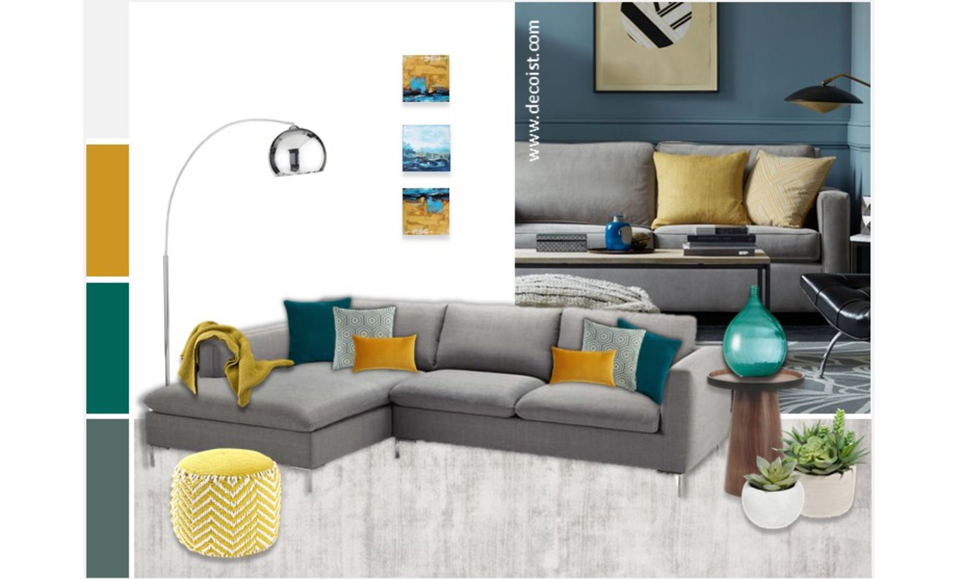 Grey mustard and teal living room home plan for Turquoise and mustard living room