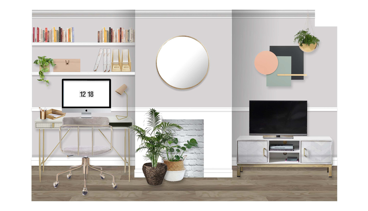 Final design  home office visual