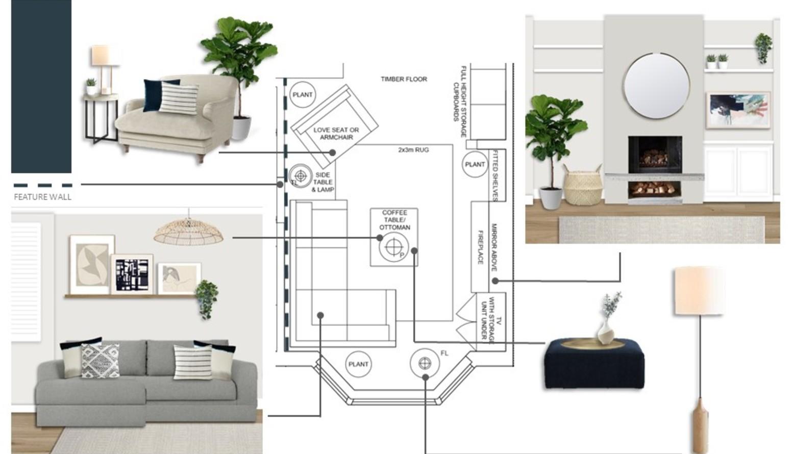 Simona miniace living room plan