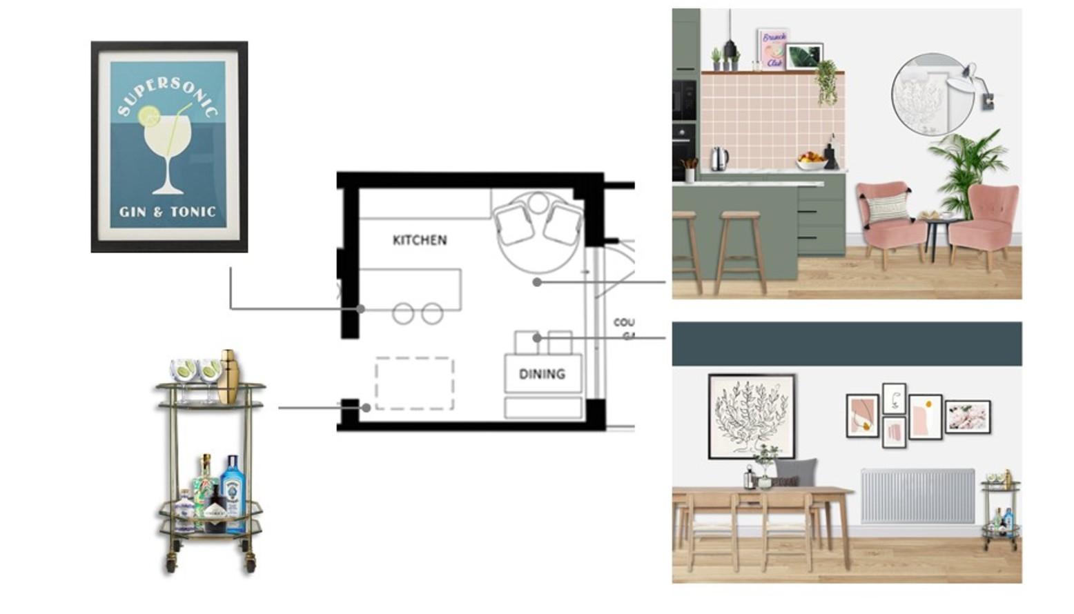 L flat   kitchen dining plan