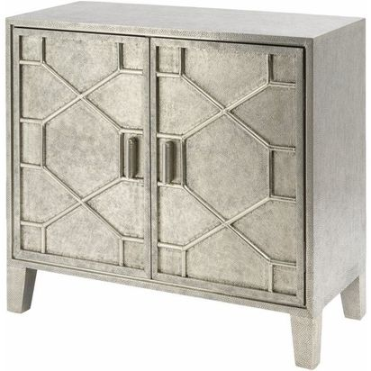 Geo deco punched metal cabinet 16661 p