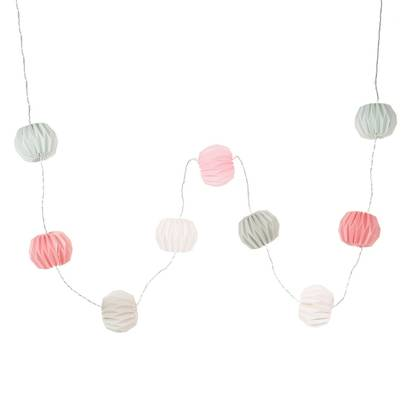 Cara pastel multicoloured paper light up garland l 215cm 1000 10 22 157175 1