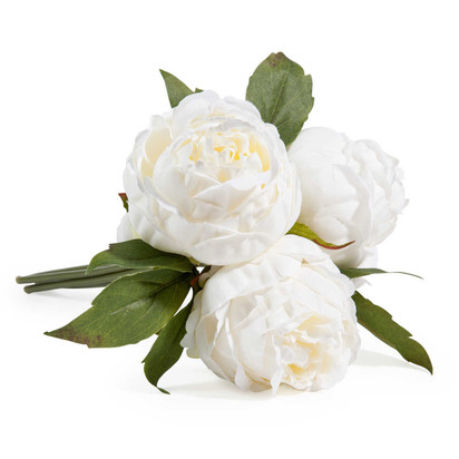 Bouquet of 3 white peony artificial flowers 1000 16 30 147712 0