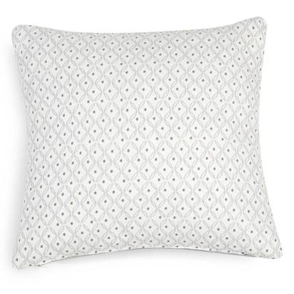 Royan white cotton cushion cover with grey motifs 40 x 40 cm 1000 16 16 171478 1