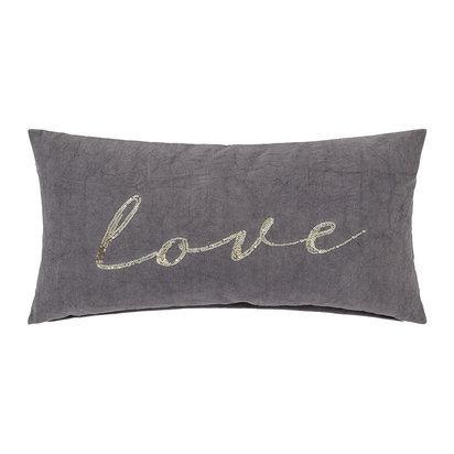 Grey love cushion 60x30cm 509525