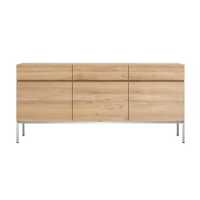 Oak ligna sideboard 3 doors 3 drawers ethnicraft clippings 9339671