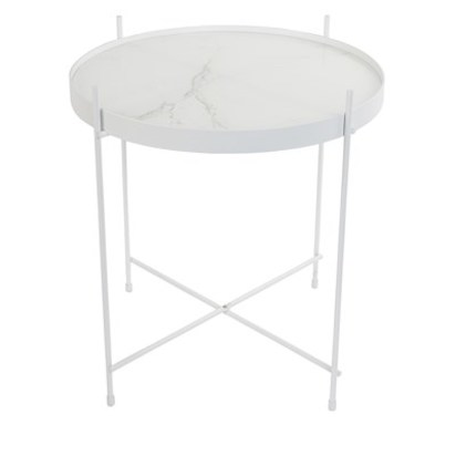 White marble cupid table