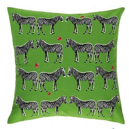 Zebra green cushion argos