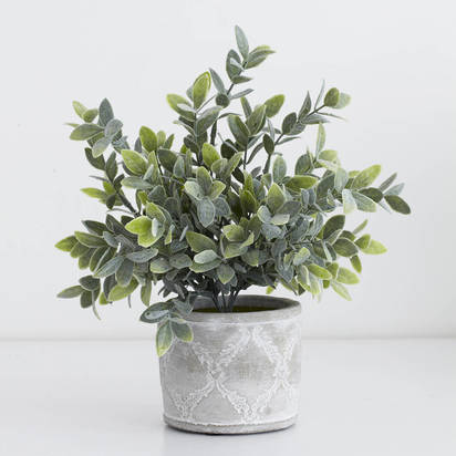 Original faux potted sage plant
