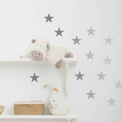 Original metal effect confetti stars wall stickers