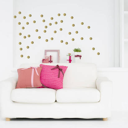 Original soft gold metallic confetti wall stickers