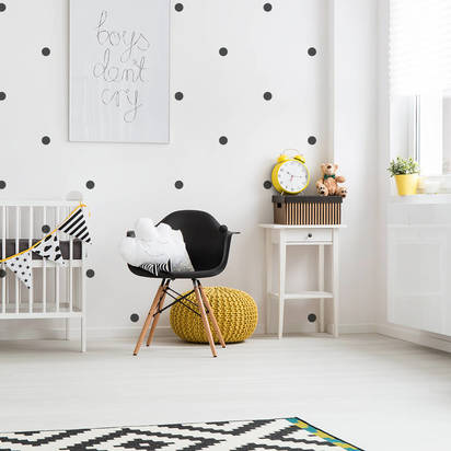 Original black spots wall stickers