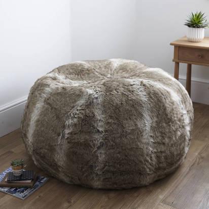 Original faux fur beanbag