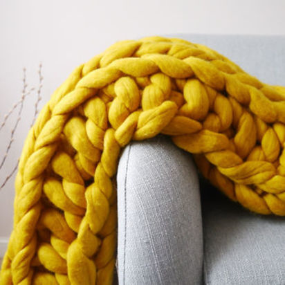 Normal digby chunky hand knitted throw