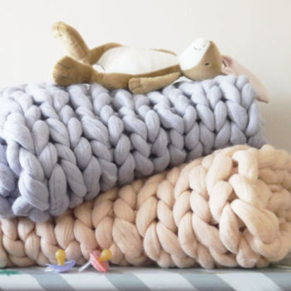 Normal super chunky knit baby blanket