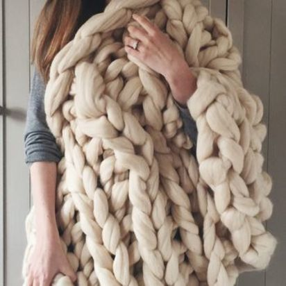 Normal stockland super chunky knit blanket
