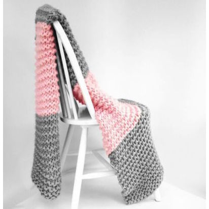 Normal diy chunky blanket knit kit throw learn knitting