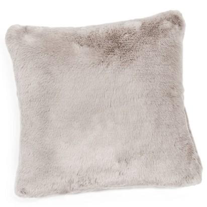 Swart faux fur cushion in grey 45 x 45cm 1000 6 26 147872 4