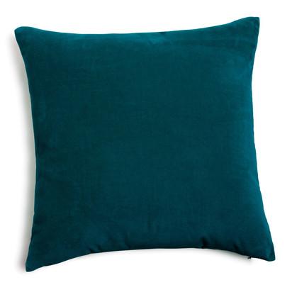 Velvet cushion peacock blue 45 x 45cm 1000 7 36 148128 2