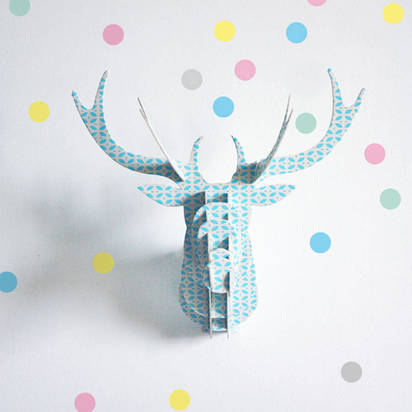 Original set of 40 reusable pastel dots wall stickers