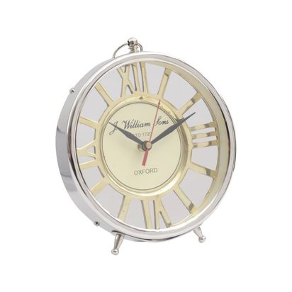 Cadnam brass and silver mantel clock 18388 p
