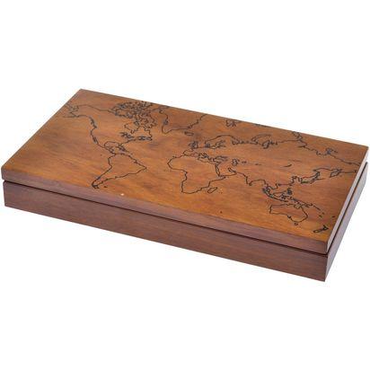 Eton world map wooden desk box 16635 p