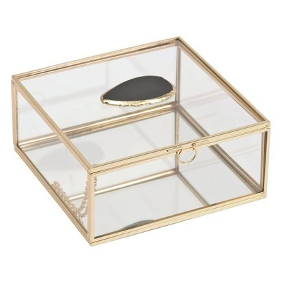 Ora agate glass jewellery box 48348 p