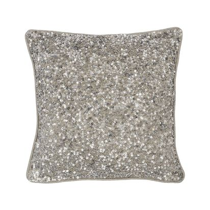 Mirage antique silver sequin cushion 60783 p