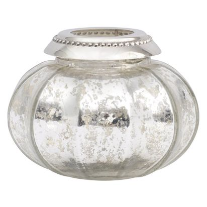 Chanson antique silver glass tealight holder 63310 p