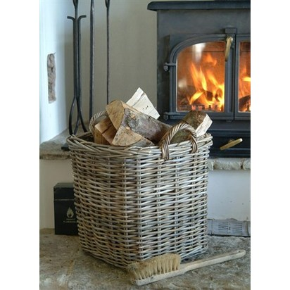 Large square log basket bawi10
