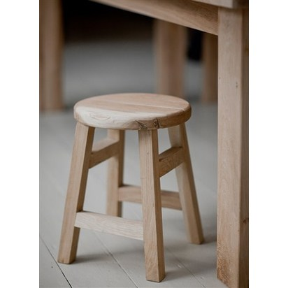 Hambledon raw oak small stool fuoa10