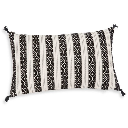 Mistra cushion cover with black and white jacquard motifs 30 x 50 cm 1000 8 9 170569 1