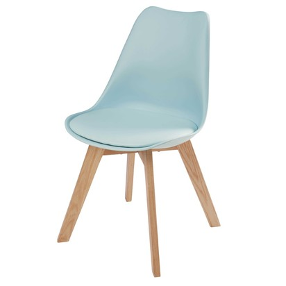 Light blue scandinavian chair with solid oak 1000 2 26 165871 1