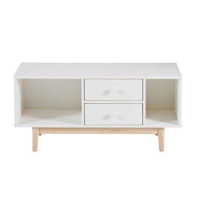 White 2 drawer low sideboard 1000 13 22 170336 1
