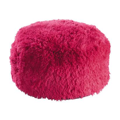 Misty faux fur pouffe in pink d 60cm 1000 16 4 143258 1