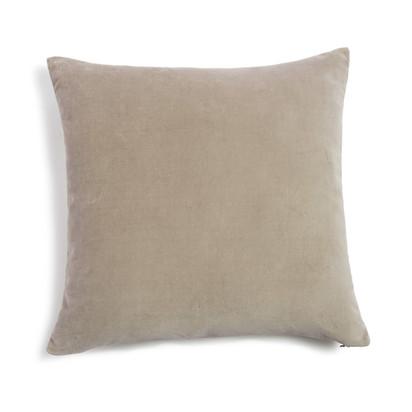 Velvet cushion beige 45 x 45cm 1000 3 32 148124 2