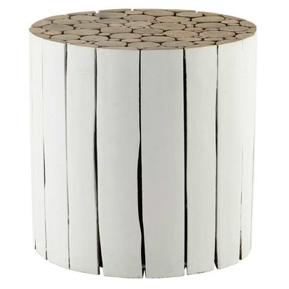 Didda wooden side table in white d 41cm 1000 15 15 155446 1