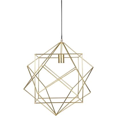 Gold metal pendant d 50 cm wire square 1000 15 32 165221 1