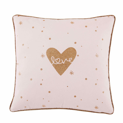 Lilly printed pink cotton cushion 40 x 40 cm 1000 9 26 170791 1