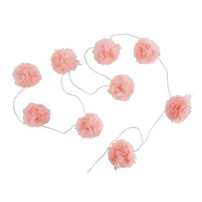 Capucine 9 led pink pompom fairy lights 1000 15 4 170933 1