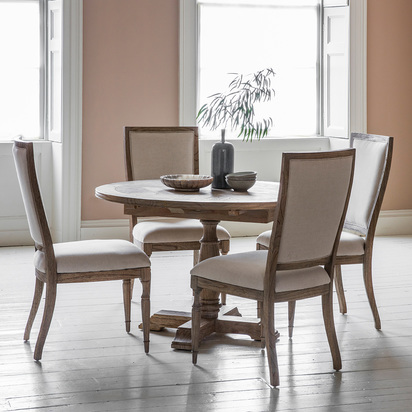 French colonial round dining set 1
