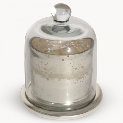 Claymore antique silver candle with glass dome za7101 1.1100