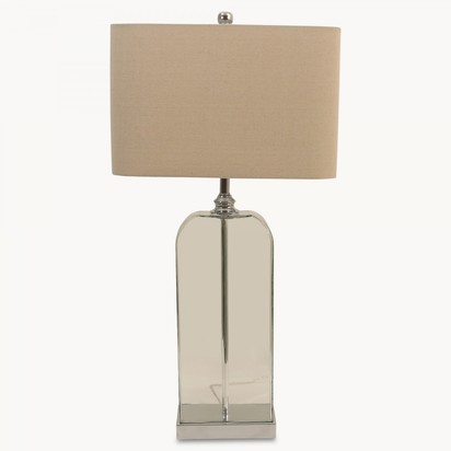 Clifton glass table lamp in chrome finish with shade hu7046 1.2052