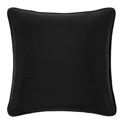 Pure silk cushion 45x45cm black 255831