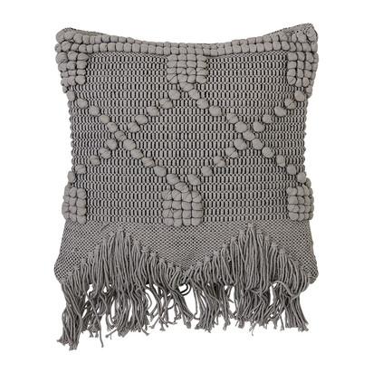 Grey cotton cushion 50x45cm 263863