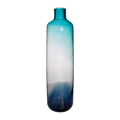Pill glass vase blue large 640846