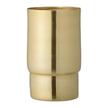 Metal vase gold 17cm 227114