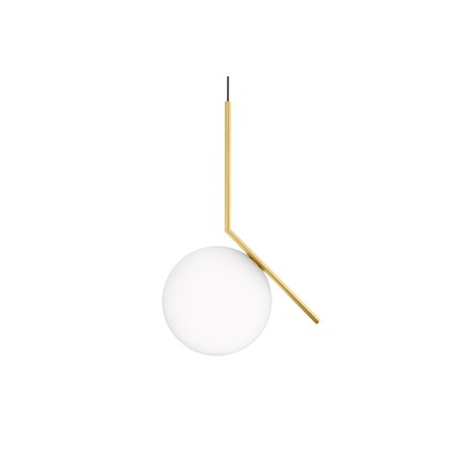 Ic pendant light s2 brushed brass large flos michael anastassiades clippings 1179131