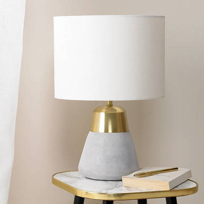 Original concrete gold table lamp