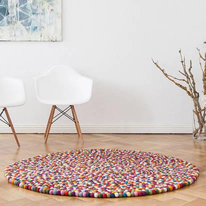 Original round felt rug